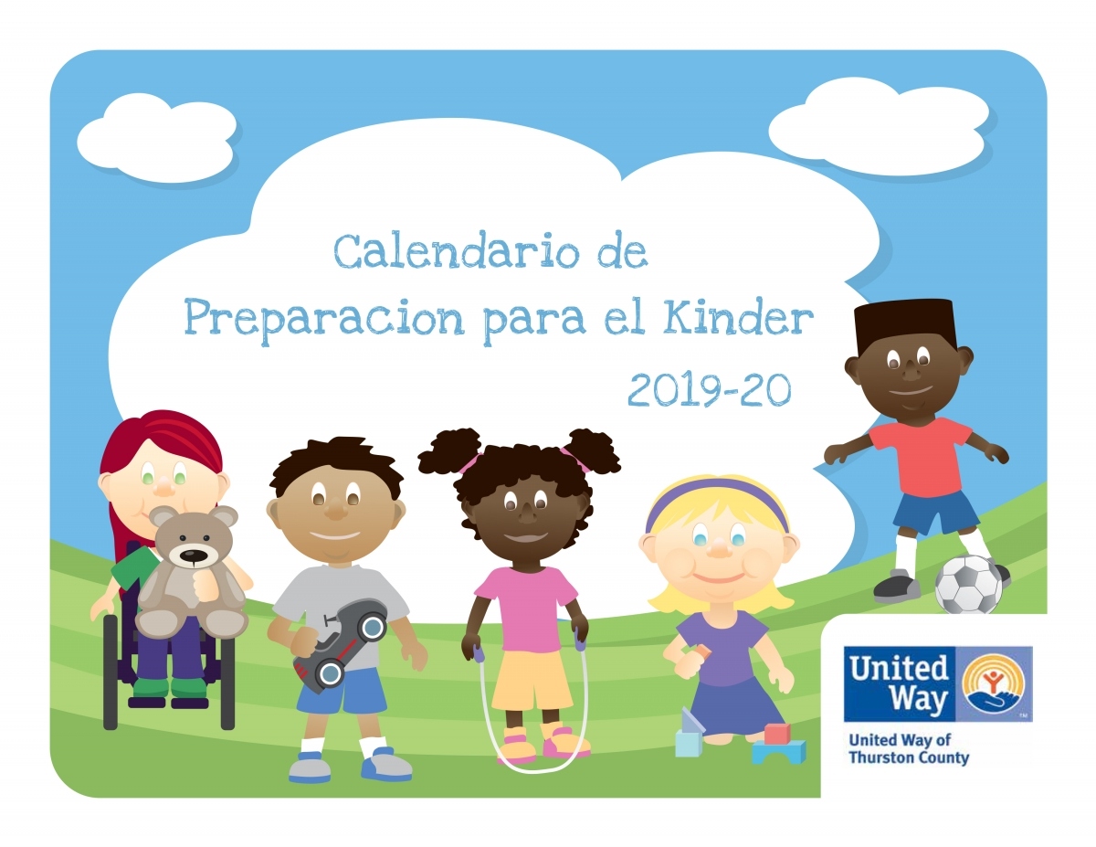 Calendario Para Kinder 2019.Kindergarten Readiness Calendar United Way Of Thurston County